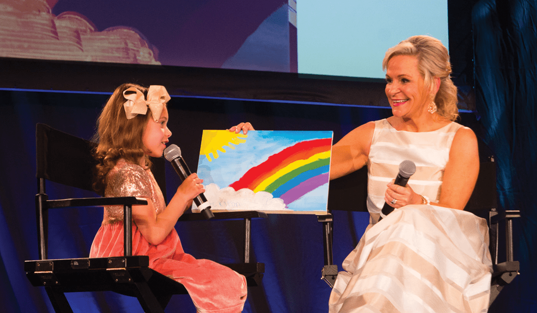 Rally Kid Brecklynn Turns Rain Into Rainbows, Auctioning Her Rainbow Painting to Raise Money for Cancer Research
